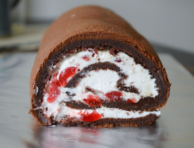 Black Forest Swiss roll cake