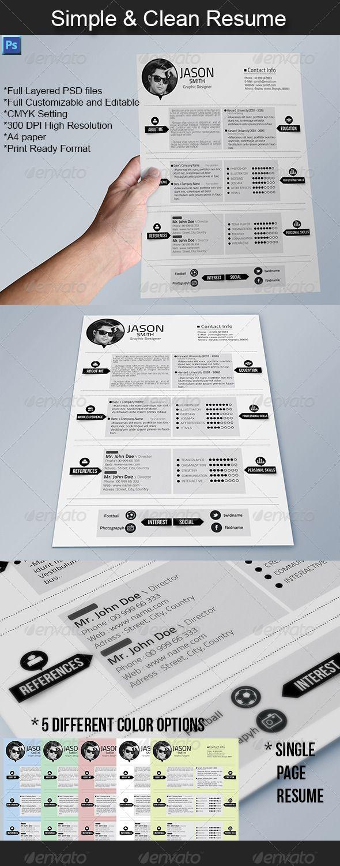 Simple u0026 Clean Resume by YFguney 316