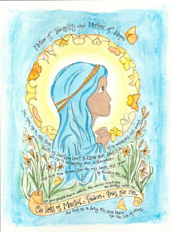 Our Lady of Mental Peace Prayer art print Mary by DovetailInk