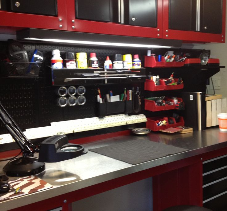 17 Best Ideas About Steel Workbench On Pinterest: A Very Nice Metal Pegboard Workbench With A Lot Of Wall