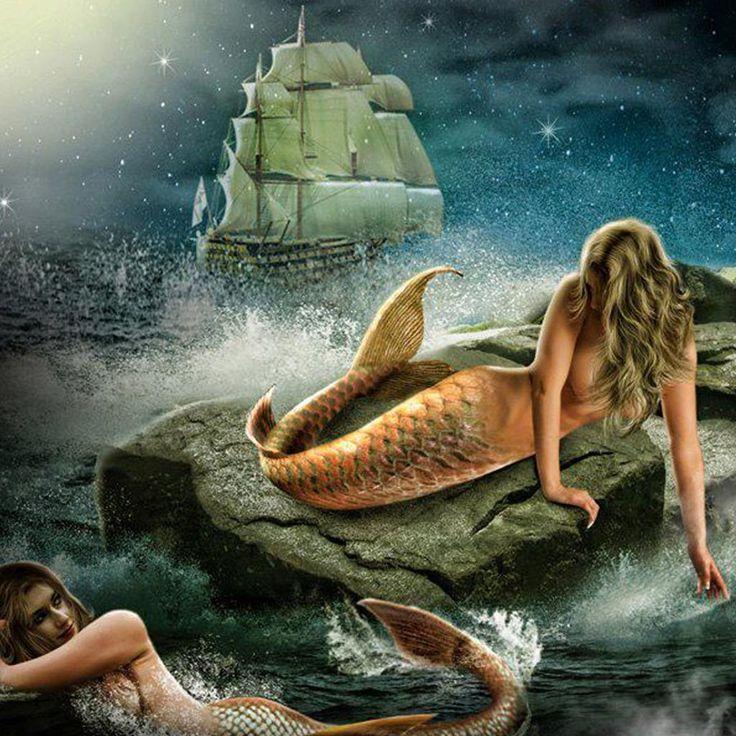 Download Gothic Mermaid Iphone Wallpaper #3dim0 | Fantasy Art ...
