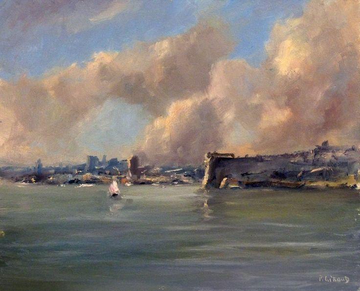 Pascal Giroud - Mer Méditerranée - Huile sur Panneau - 27 x 22 cm (3F)