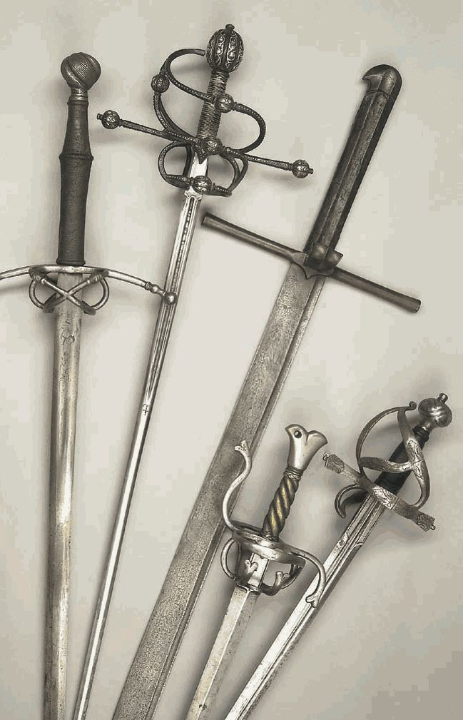 Second from the left is Spencer's sword while the one all the way to the right is Vincent's sword.