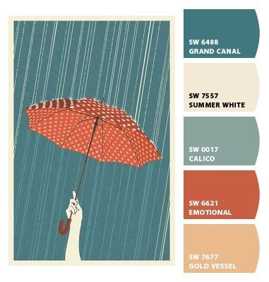 """vintage colour palette- """"emotional"""" for our bathroom. It will go with the rest of the color palette we've chosen."""