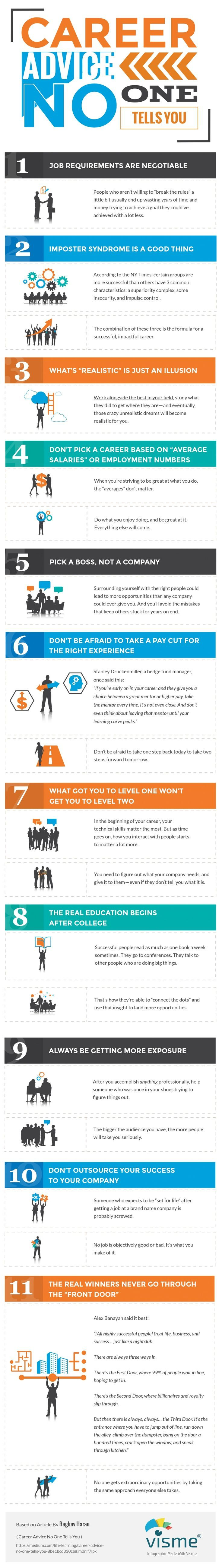 Career Advice No One Tells You Infographic