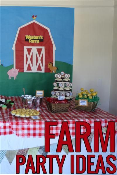 Ideas and inspiration for a farm/barnyard birthday party