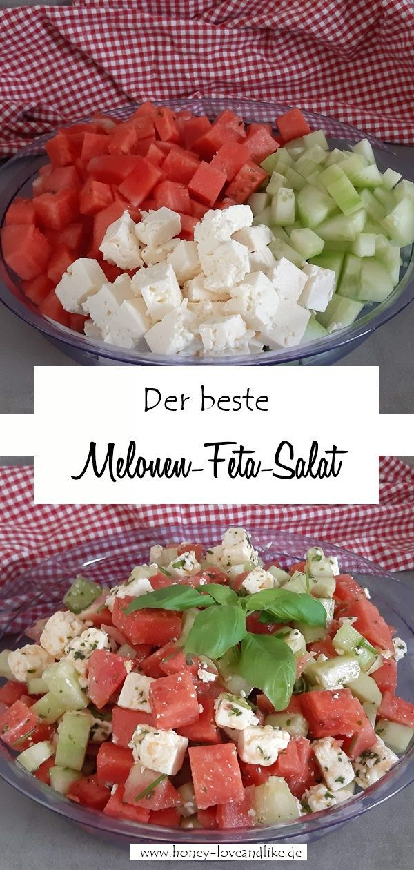 [Fitness Rezept] Der einfachste und beste Melonen-Feta-Salat der Welt