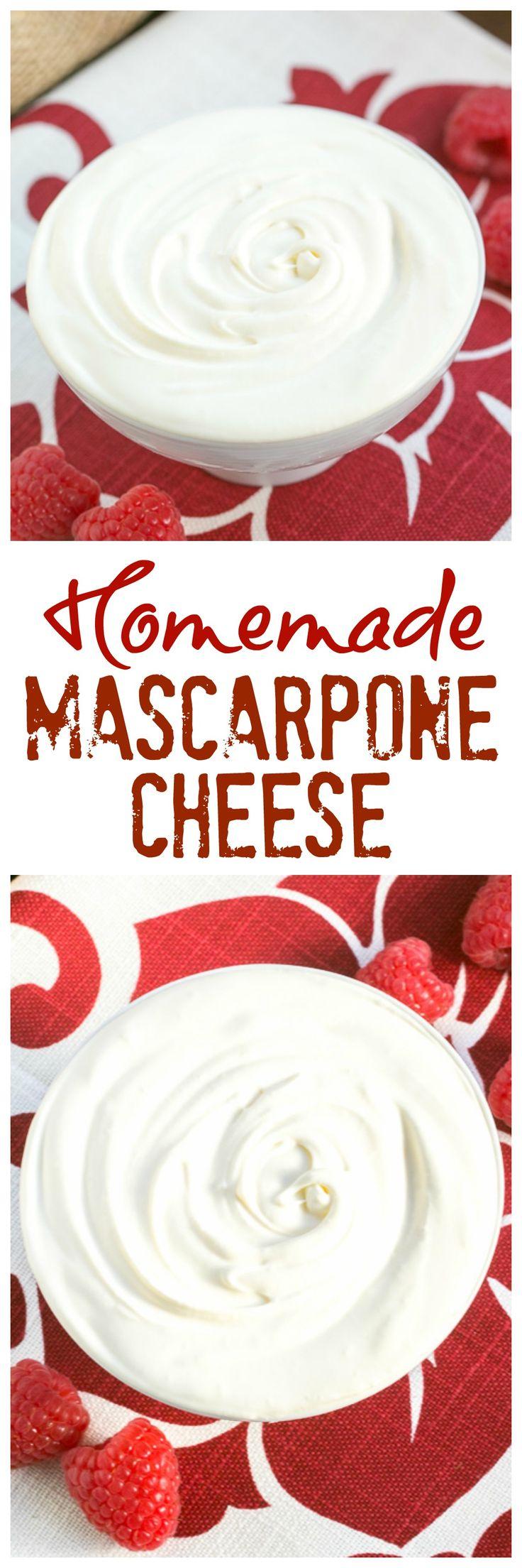 Homemade Mascarpone | How to make mascarpone cheese at home. It's SO easy! @lizzydo