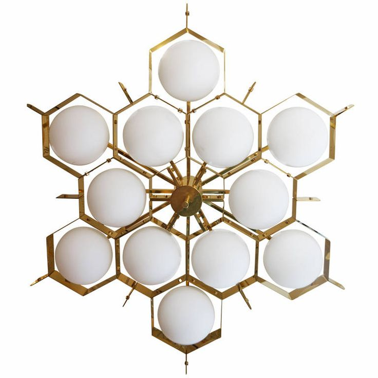 ::: Limited Edition Flush Mount Chandelier by Fedele Papagni
