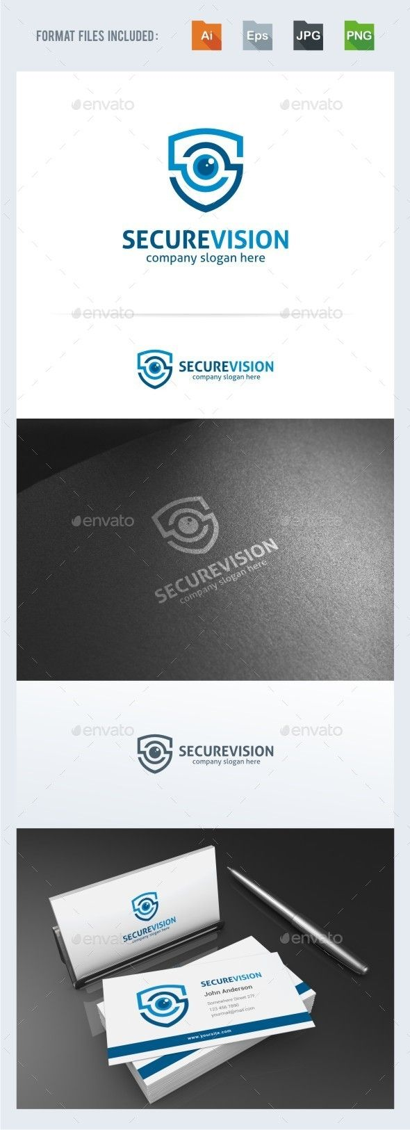 Secure Vision Logo Template — Transparent PNG #cctv #safety • Available here → https://graphicriver.net/item/secure-vision-logo-template/15355496?ref=pxcr