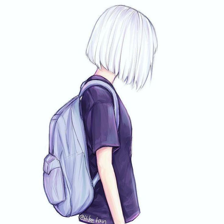 Картинки девушек нарисовать с портфелем