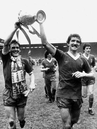 Kenny Dalglish Graeme Souness Alan Hansen Celebrating Winning Championship