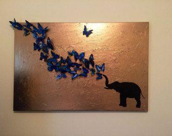 GROßER Schmetterling Bild Malerei Schmetterling von 10kiaatstreet