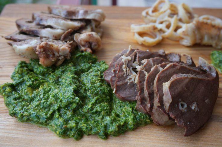 Зеленый соус к мясу // Green cilantro sauce