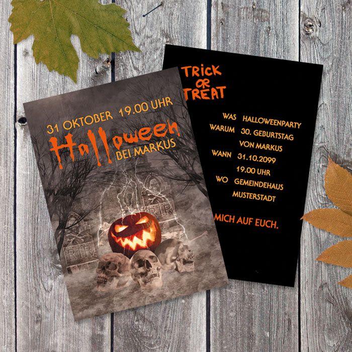 Halloween Party Einladung Partyflyer
