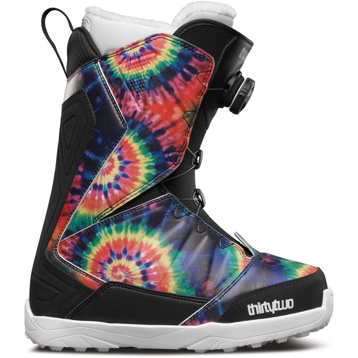 32 Lashed Boa Snowboard Boots - Womens    Keep it wild with Tie Dye and Thirty Two's number 1 selling boot now has BOA. Built with the best fit, comfort and flex.