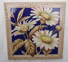 "Antique Victorian H & R Johnson Daisy 6"" X 6"" Tile"