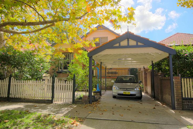 Carport in front of house - fence idea - matches carport