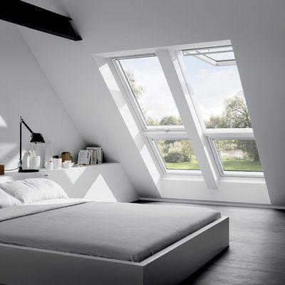 Die besten 25+ Doppel velux fenster Ideen auf Pinterest Mansarde - dachfenster balkon cabrio interieur