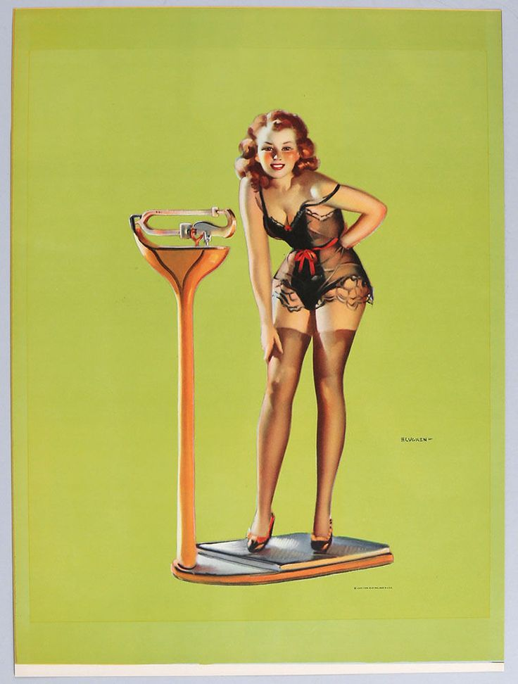 Vintage 1930s Gil Elvgren Art Deco Cheesecake Pin-Up Poster Figures Don't Lie NR