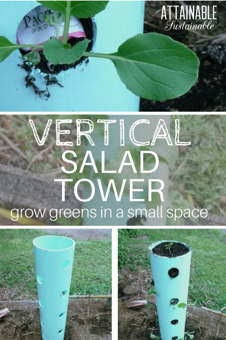 Small vegetable gardens are a challenge, but this DIY vertical garden tower can help you get the most out of your space!