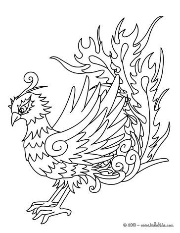 Phoenix Coloring Page. Nice Bird Coloring Sheet. More Original Content On  Hellokids.com