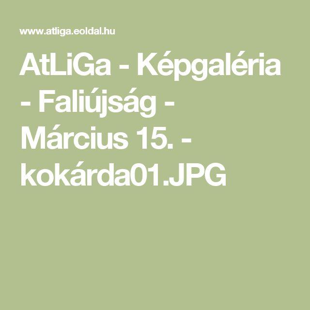 AtLiGa - Képgaléria - Faliújság - Március 15. - kokárda01.JPG