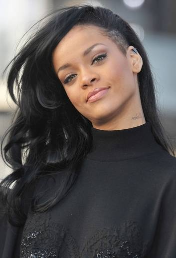 Rihanna side shave hair. @Christine Ballisty Salerno. I like how Rihanna has a small section shaved. It's not a crazy as some of the other sides haves.