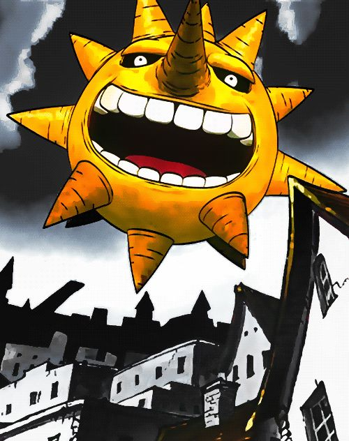 Sun from Soul Eater (gif) the only sun that can scar the shit our of u