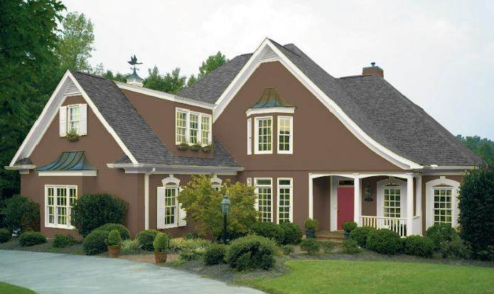 Brown Off White Exterior Paint Colors Pinterest Projects
