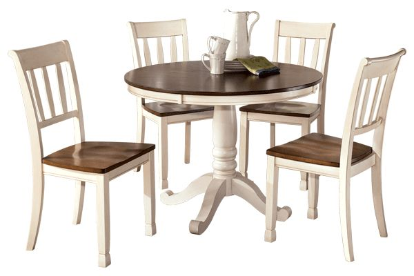 "Series Name:  Whitesburg   Item Name:  Round Dining Room Table Top   Model #:  D583-15T   Dimensions:  42""W x 42""D x 3""H   Weight:  50 lbs"