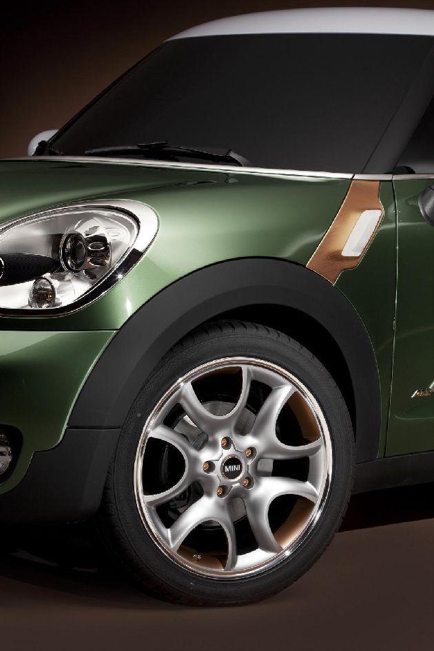 green car mini paceman concept ecogentleman automotive transportation wheels