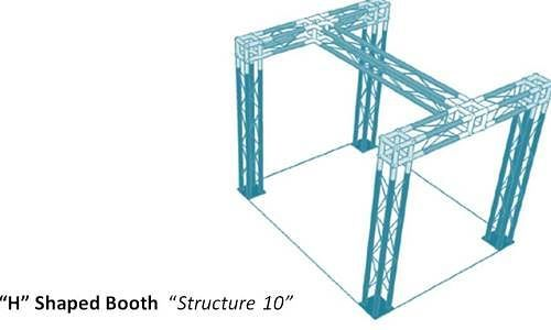 H shaped truss trade show booth #tradeshowbooths #displaytruss #exhibittruss