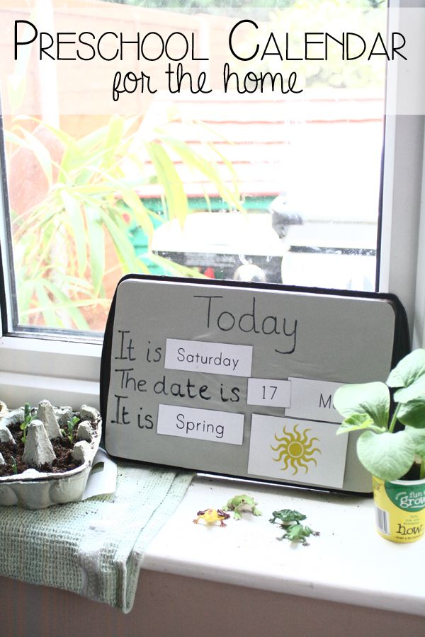 Create Your Own Calendar For Preschoolers To Help Them Learn Days Of The Week Dates