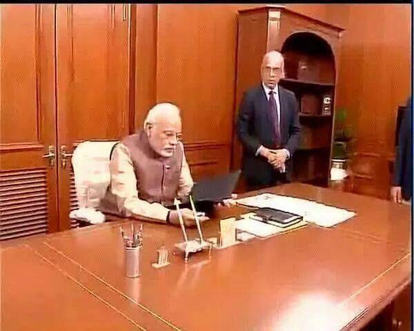 Narendra Modi in PMO