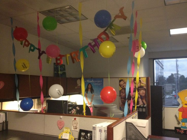 Popular   Office Birthday Decorations Office Birthday And Hanging Balloons