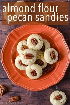 Almond Flour Pecan Sandies: An easy, one bowl recipe for gluten free, buttery pecan cookies.