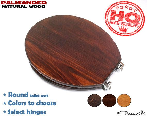 Round wooden toilet seat (3 colors to choose)    Wooden toilet, Soft close, Slow close, Rustic toilet seat for your bathroom
