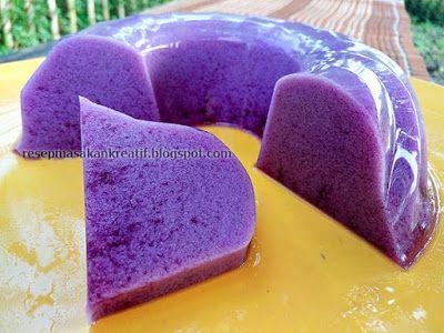 Resep Puding Susu Ubi Ungu | Resep Masakan Indonesia (Indonesian Food Recipe)
