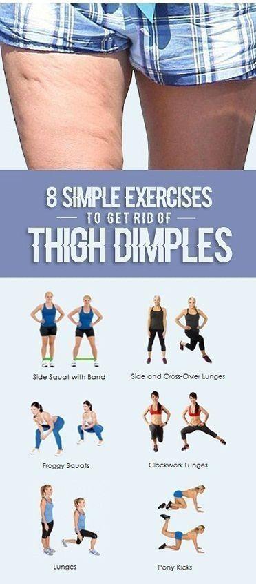 8 einfache Übungen zum Entfernen von Oberschenkelgrübchen | Jun Tipps und Tric…
