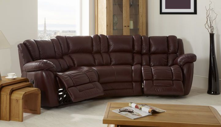 La Z Boy Augusta 4 Seater Curved Sofa Power Recliner