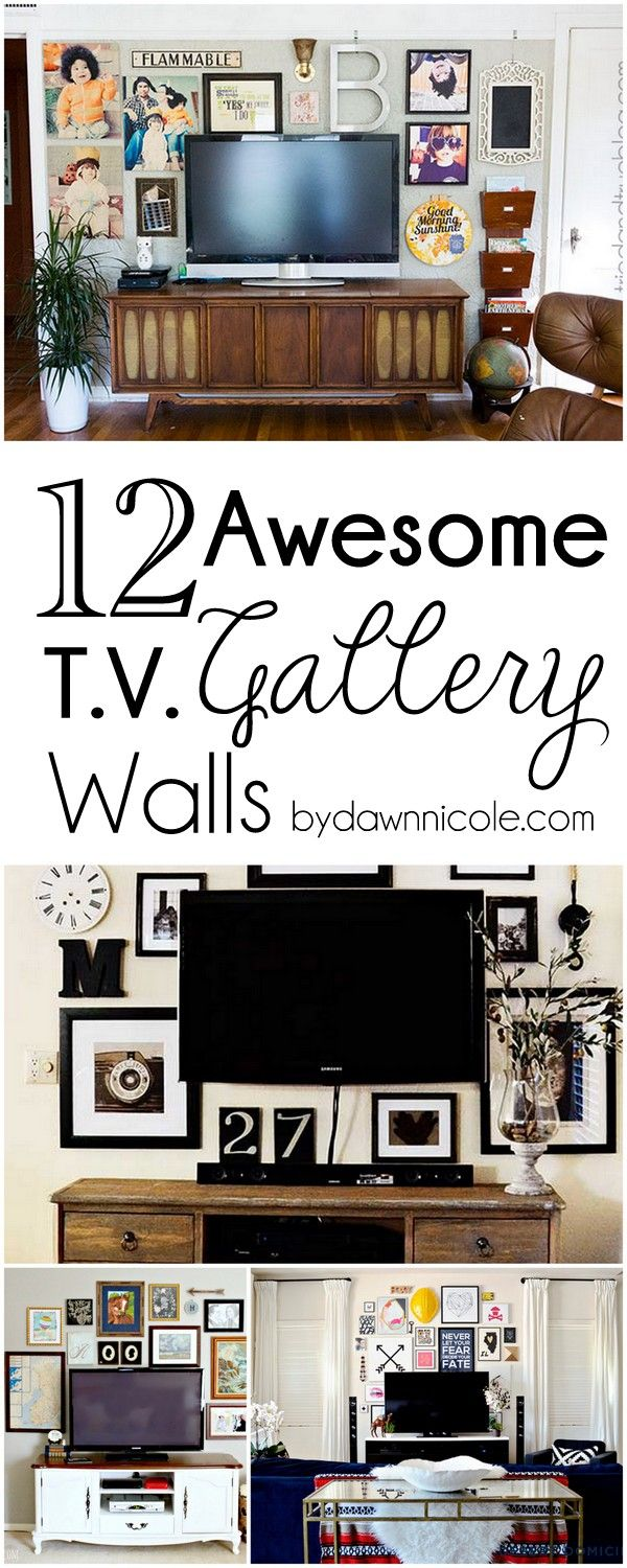 12 Awesome Tv Gallery Walls For The Home Pinterest Gallery