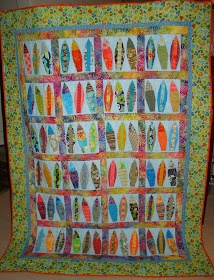 I was looking for a surf board quilt I could make, I like this one.