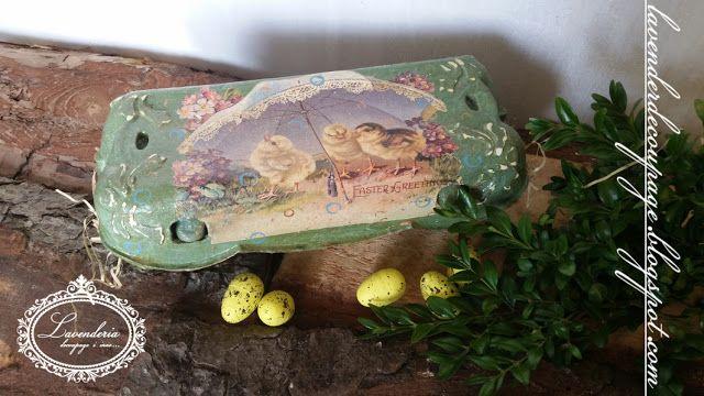 Lavenderia - decoupage i inne: EKO - pojemnik na pisanki w stylu Vintage