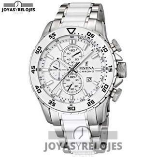 Increíble ⬆️😍✅ Festina F16628/1 😍⬆️✅ , Modelo perteneciente a la Colección de RELOJES FESTINA ➡️ PRECIO 219.03 € En exclusiva en 😍 https://www.joyasyrelojesonline.es/producto/festina-f166281-reloj-cronografo-de-cuarzo-para-hombre-con-correa-de-acero-inoxidable-color-blanco/ 😍 ¡¡Ofertas Limitadas!! #Relojes #RelojesFestina #Festina