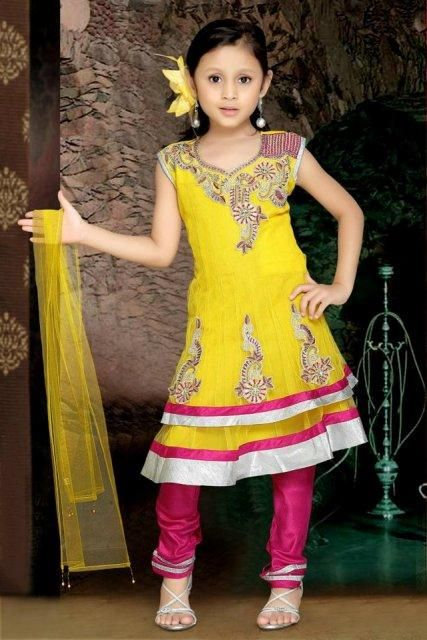 Anarkali Frocks Eid Collection 2014 for Babies Eid Suite