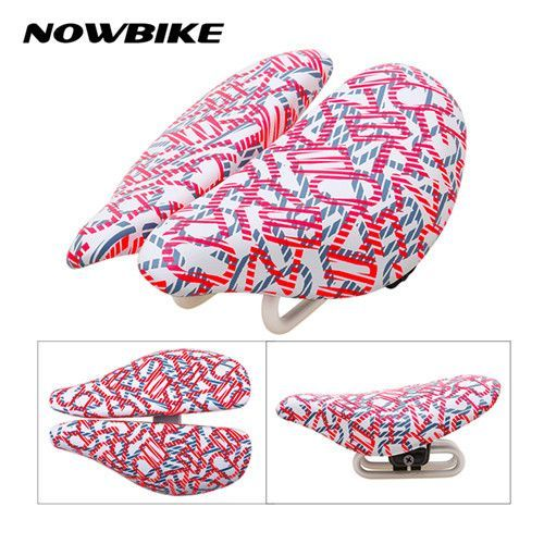 2017 Hot Bike Saddles MTB Road Cycling Saddle Seat Cr-Mo Steel Super Fiber Leather Bicycle Seat Black White Red Bicycle Parts