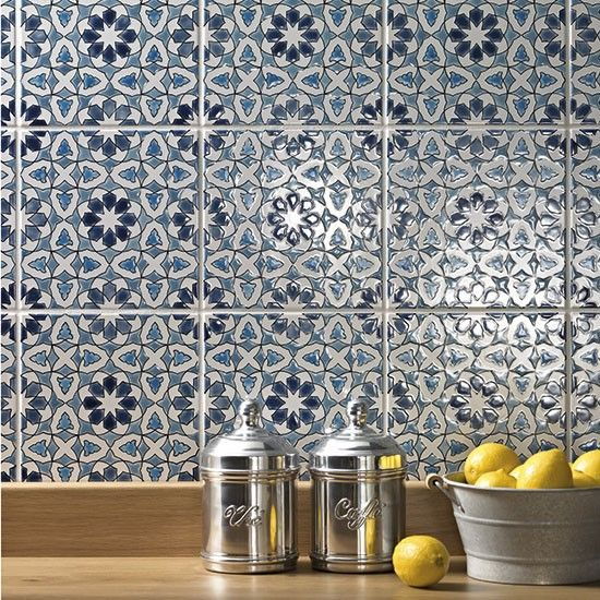 48 best glazed decorated tiles images on pinterest Splashback tiles kitchen ideas