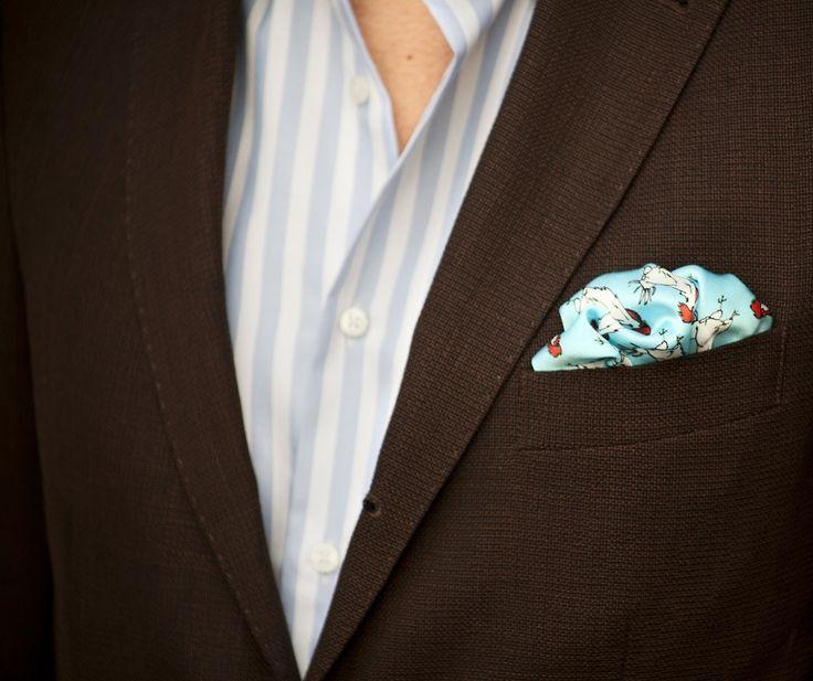@Fabio Attanasio wearing a Prestigious KINLOCH Pocket Squares! #kinloch #pitti #fabioattanasio #thebespokedudes #gentleman #menswear #style #moda #menswear #pocketsquare #rooster #elegance #eleganza