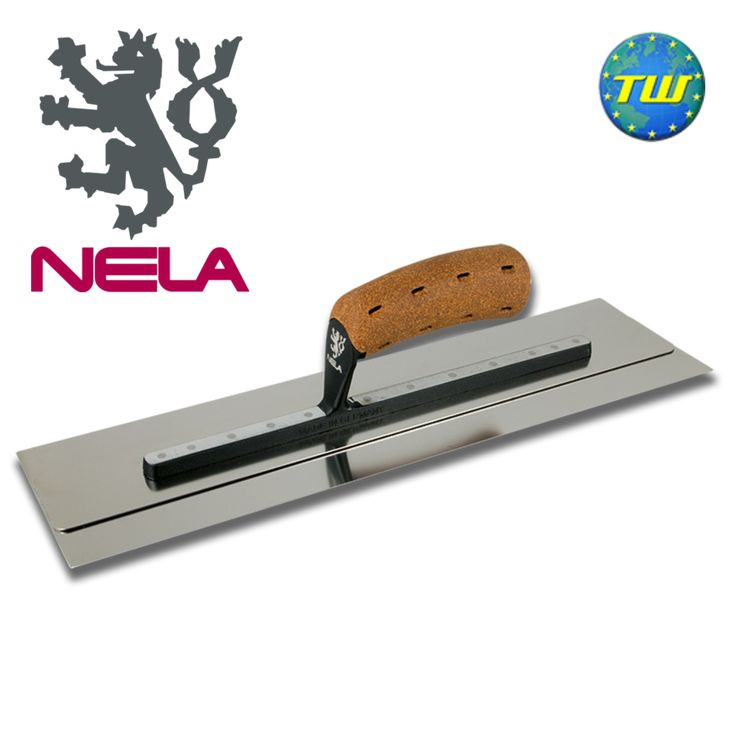 http://www.twwholesale.co.uk/product.php/section/10327/sn/NELA-Trowel-18x4.3  NELA Trowels 18x4.3in SuperFLEX Finishing Trowel with BiKo Cork Grip Handle 10854511BK is fitted with a hardened stainless spring steel blade for added flexibility and durability. The trowel has a double blade technology with rounded edges and is great at making high quality burr-free fillings.